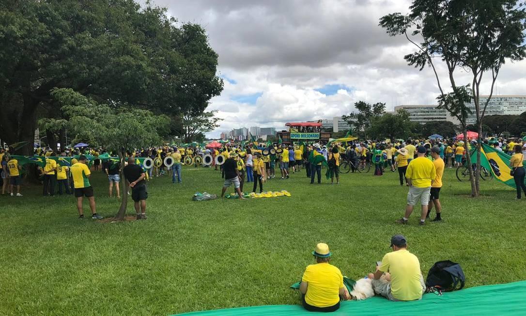 No Rio e em Brasília, a PM não divulgou a estimativa de número de manifestantes Foto: Aguirre Talento / Agência O Globo