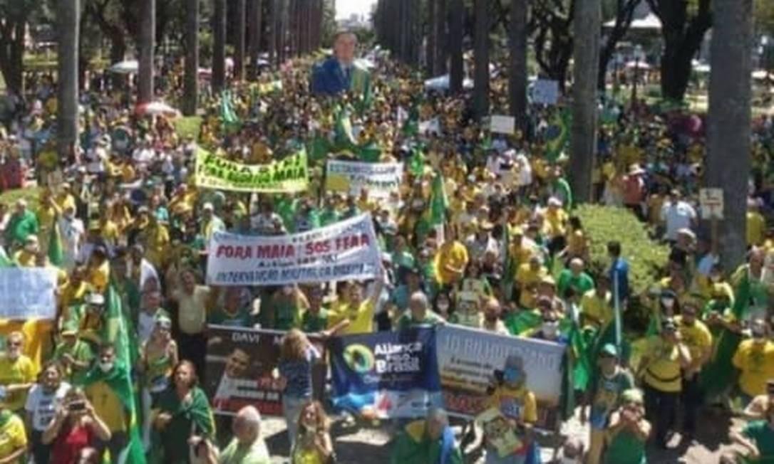 Publicação do presidente Jair Bolsonaro no Instagram Foto: Reprodução