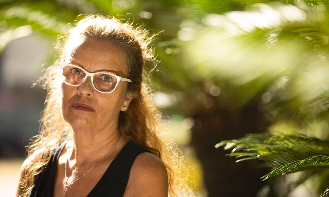 A pedagoga Luiza Campos teve o pedido de aposentadoria por invalidez negado Foto: ROBERTO MOREYRA / Agência O Globo