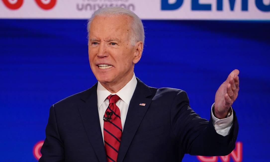Ex-vice-presidente e candidato democrata a concorrer à Presidência dos EUA, Joe Biden, no debate da CNN, em Washington Foto: MANDEL NGAN / AFP