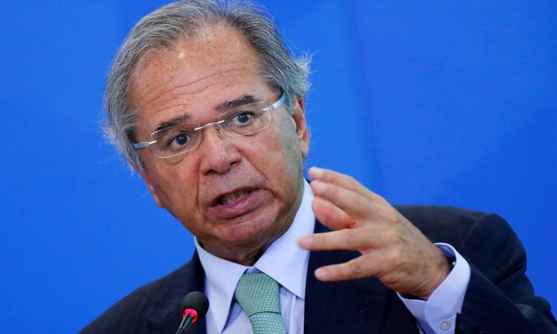 O ministro da Economia, Paulo Guedes, anunciou medidas para conter impactos do coronavírus na economia Foto: Adriano Machado / Reuters
