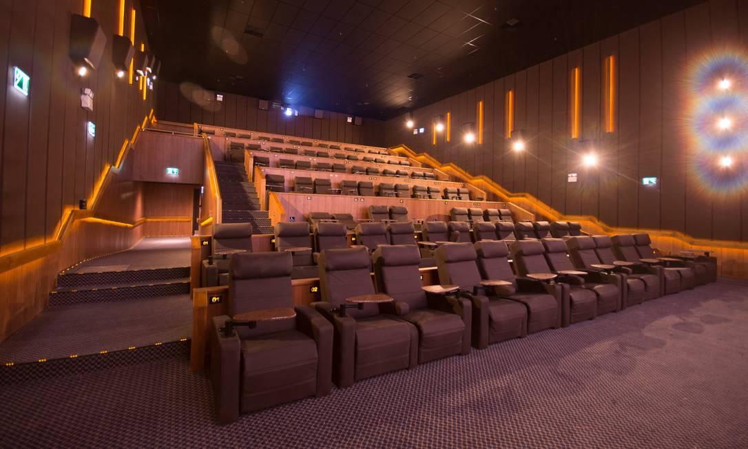 Sala de cinema do Kinoplex Platinum Rio Sul Foto: Divulgação