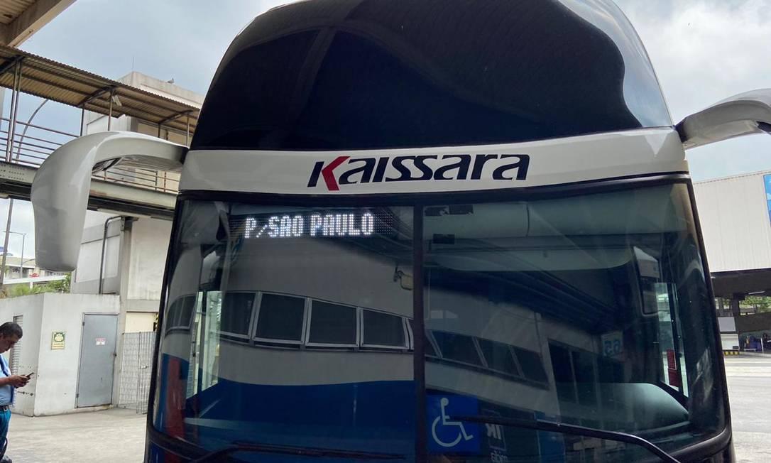 Ônibus circularam normalmente nesta manhã na Rodoviária Novo Rio Foto: Gabriela Oliva