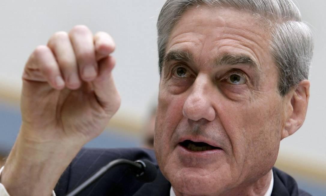 Investigação do promotor especial Robert Mueller (na foto) levou À acusação formal contra a Concord, coordenada por um homem próximo a Putin Foto: Yuri Gripas / Reuters