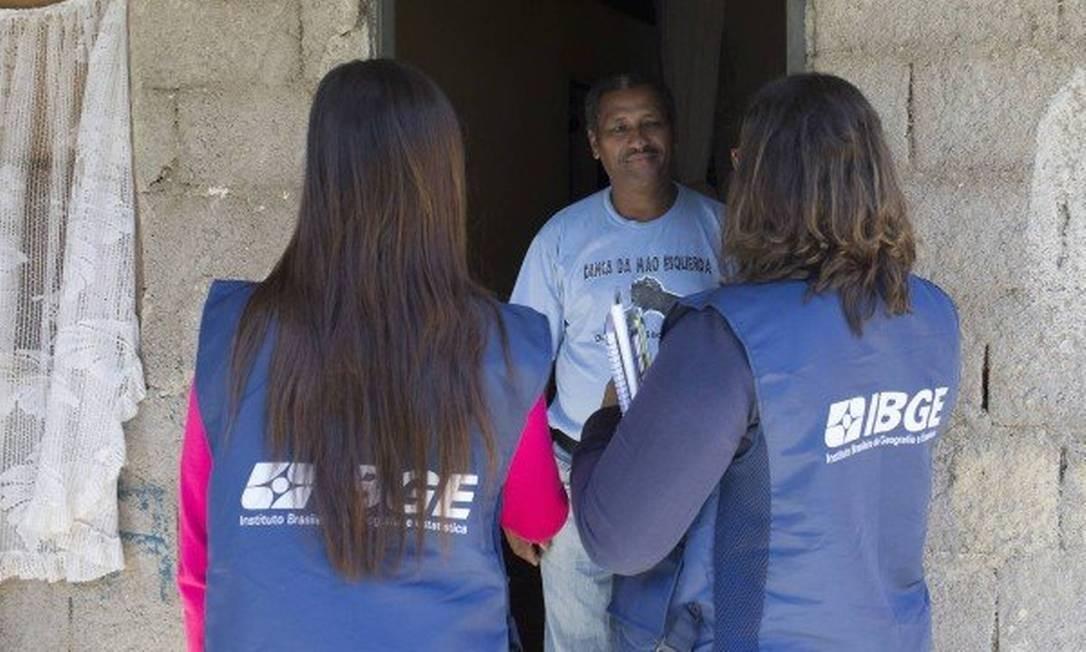 Pesquisadores do IBGE Foto: Divulgação