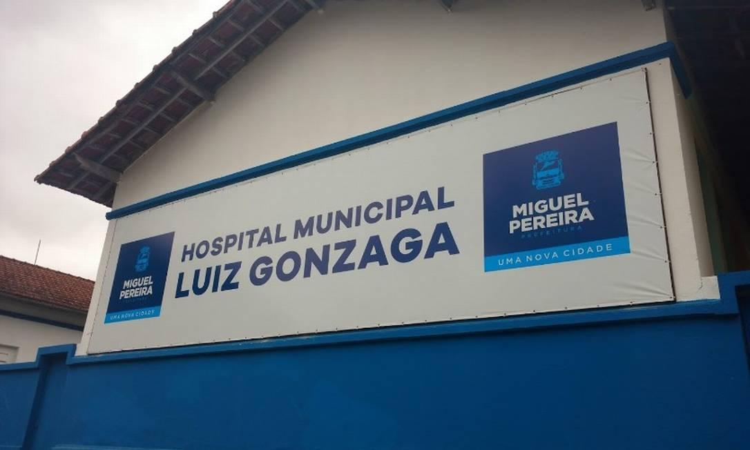 Hospital municipal Luiz Gonzaga, em Miguel Pereira Foto: Reprodução