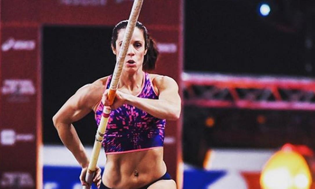 Katerina Stefanidi é a atual campeã olímpica do salto com vara Foto: Reprodução