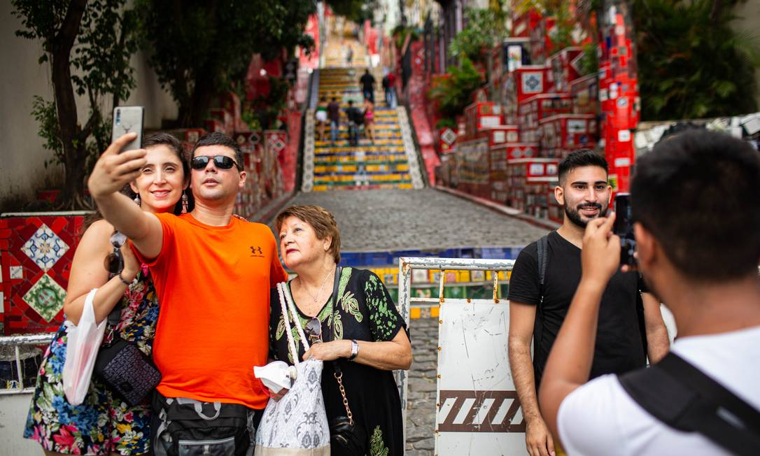 Escadaria Selarón fechada para turistas Foto: Hermes de Paula