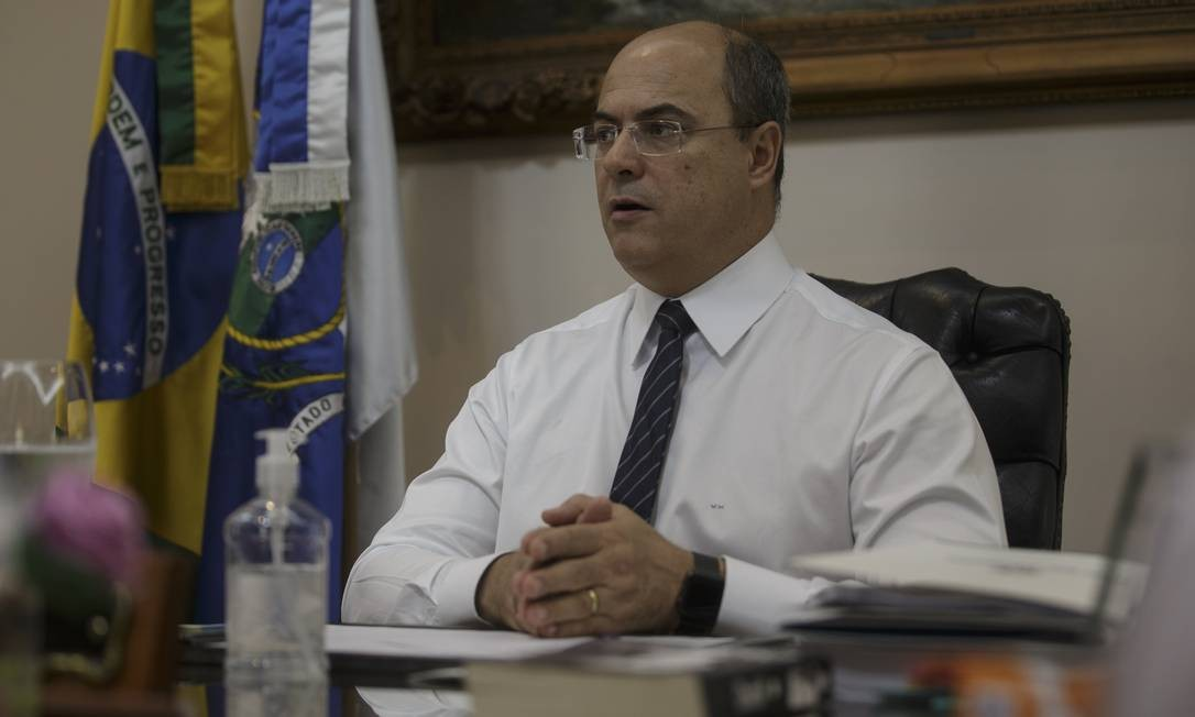 Wilson Witzel pretende anunciar novas medidas de combate ao Covid-19 nos próximos dias Foto: Alexandre Cassiano