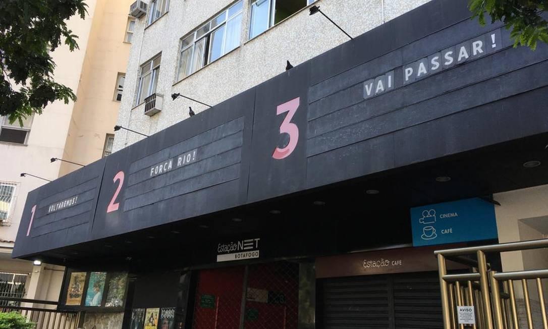 Letreiros do cinema Estação Botafogo Foto: Divulgação