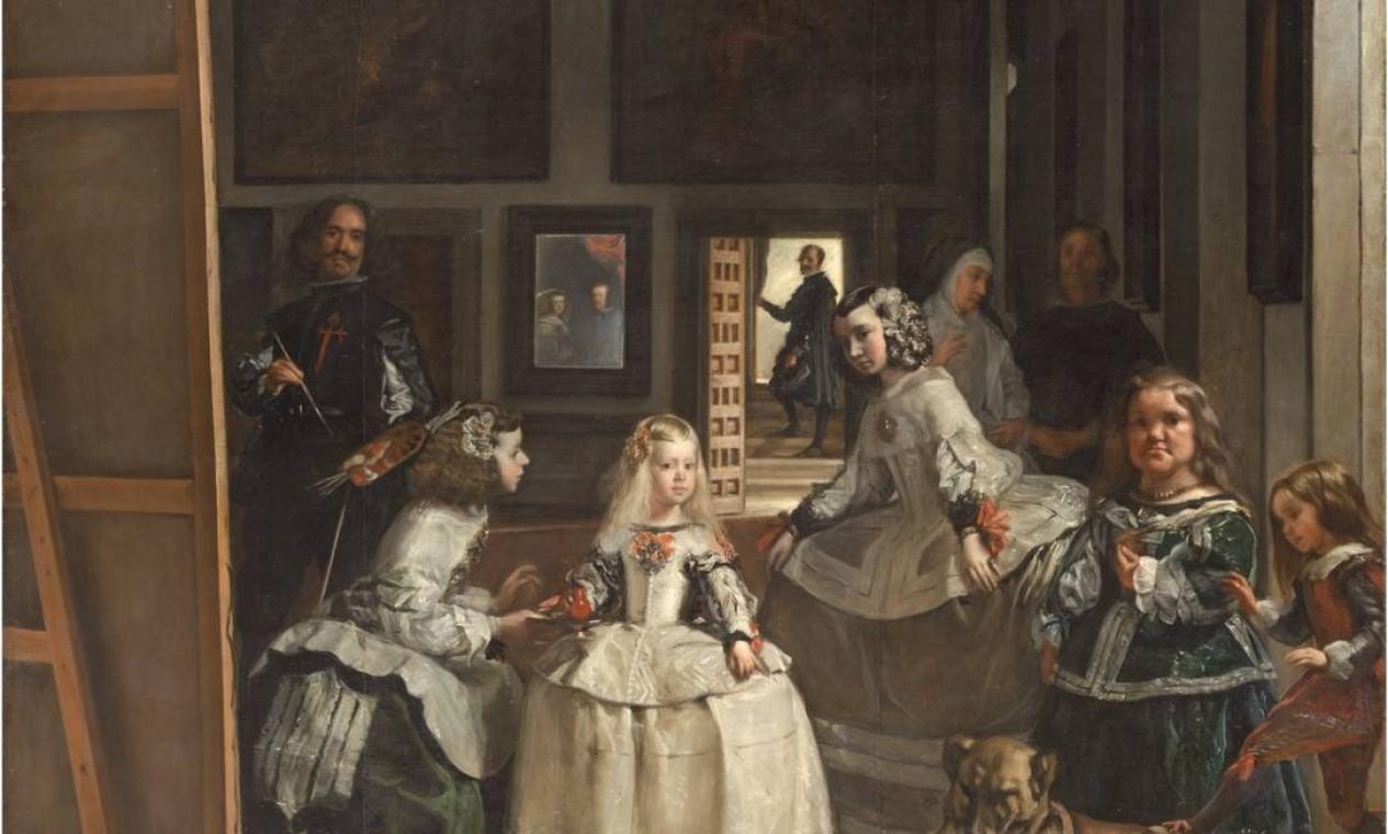 """""""As meninas"""", de Diego Velázquez, no Museu do Prado Foto: Reprodução"""