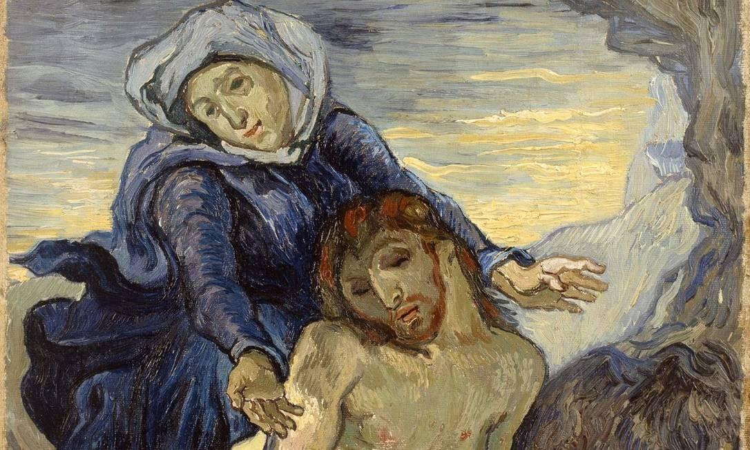 """""""Pietá"""", de Van Gogh, no Museu do Vaticano Foto: Reprodução"""