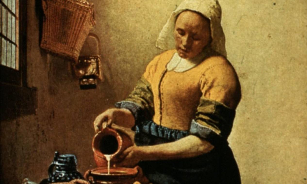"""""""A leiteira"""", de Johannes Vermeer, no Rijksmuseum Foto: Reprodução"""