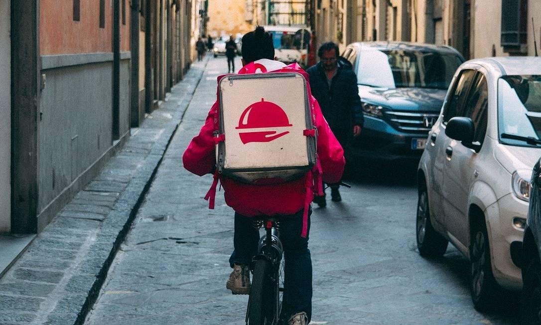 Entregador de delivery Foto: Pixabay