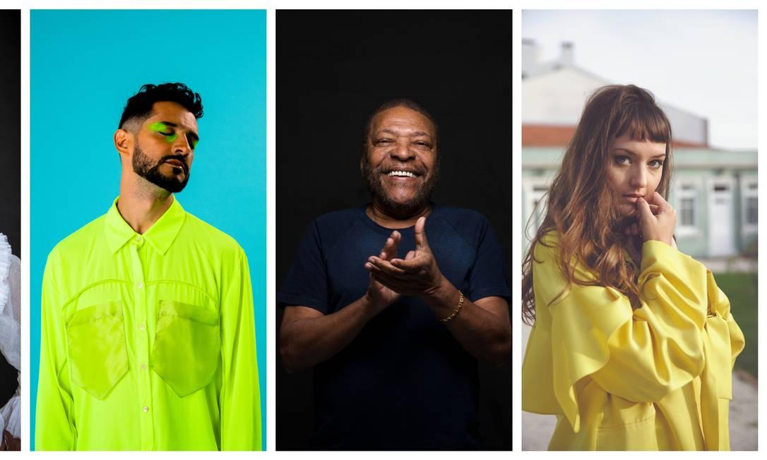 Teresa Cristina, Matheus VK, Martinho da Vila e Mallu Magalhães estão no festival Foto: Arte