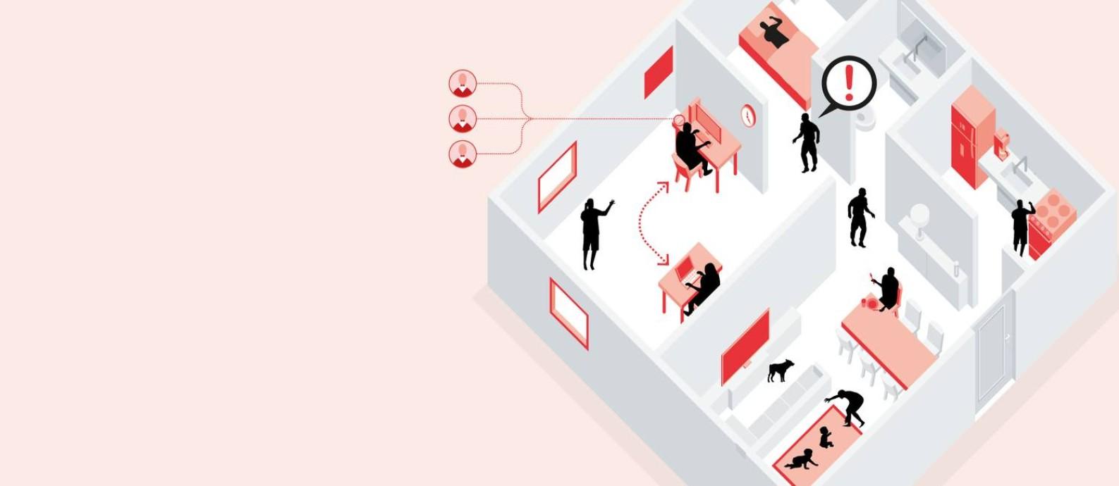 O protagonismo do sucesso de um home office está na inteligência emocional Foto: Editoria de arte