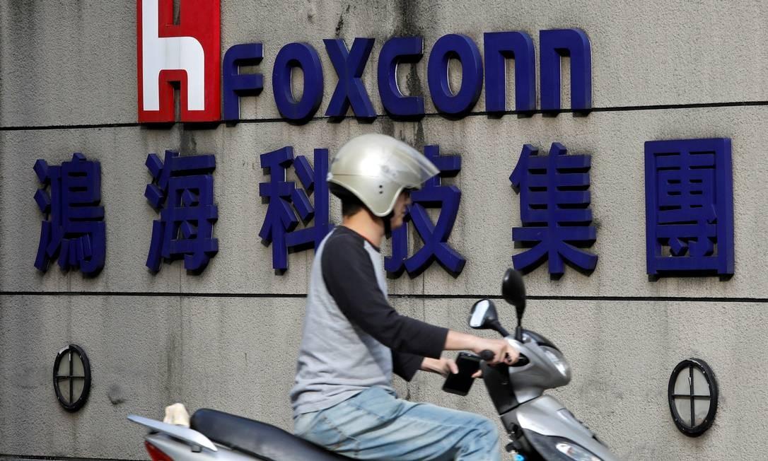 A Foxconn retomará capacidade máxima no fim do mês Foto: Tyrone Siu / REUTERS
