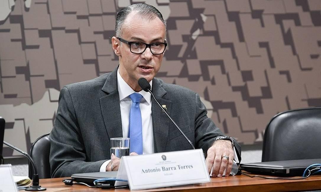 Antônio Barra Torres é o diretor-presidente da Anvisa Foto: Leopoldo Silva / Agência Senado