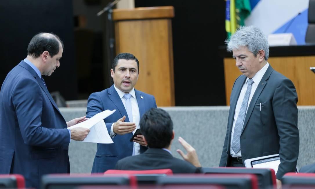 Técnicos da equipe econômica anunciam medidas para reduzir impactos do coronavírus Foto: Gustavo Raniere / Ministério da Economia