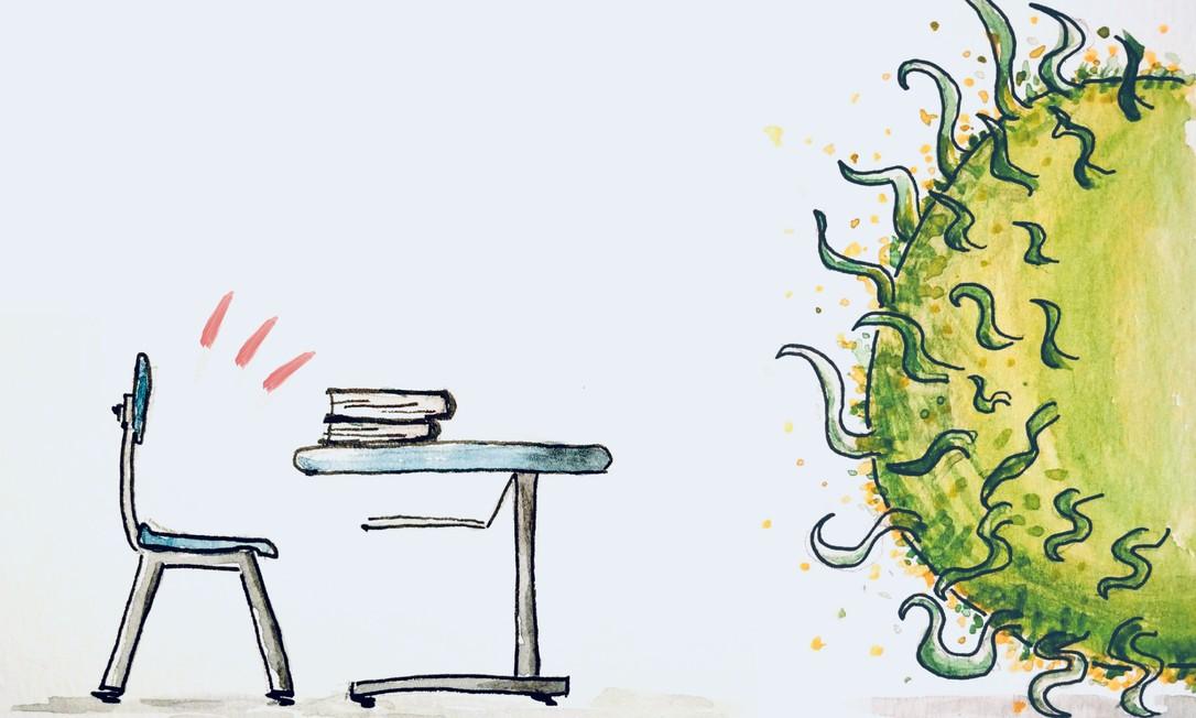 O novo coronavírus esvazia escolas e universidades Foto: Fabio Campos