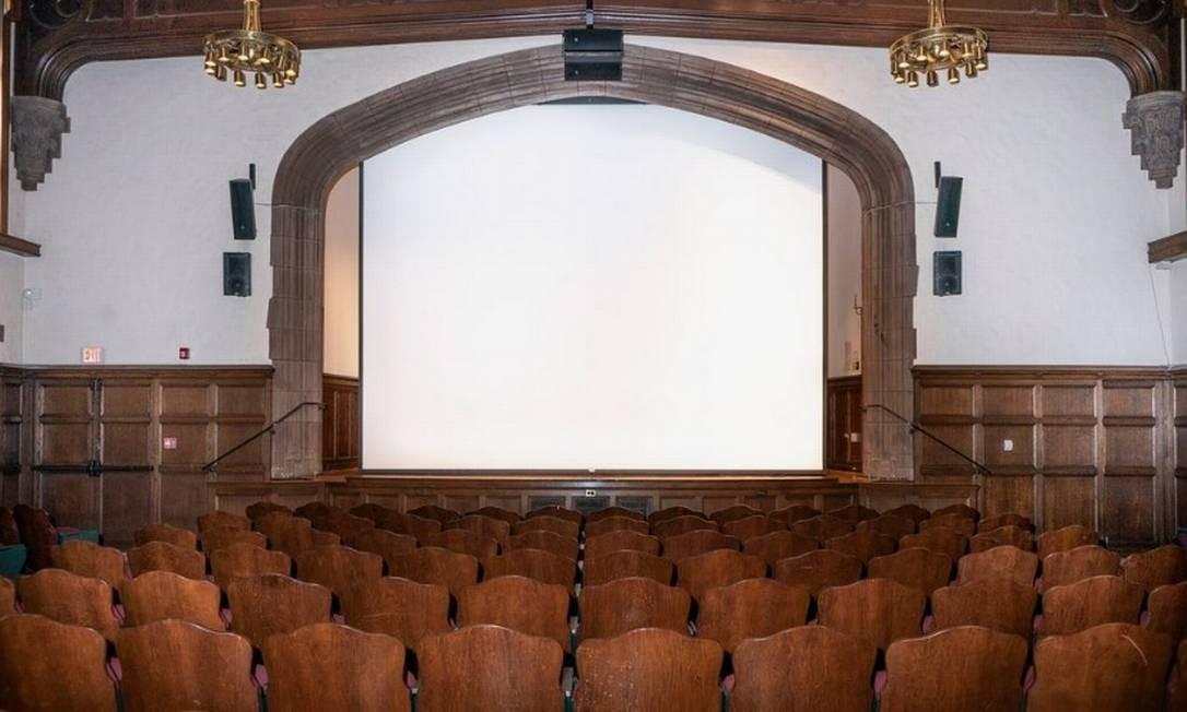 Sala da Universidade de Yale completamente vazia Foto: Bloomberg