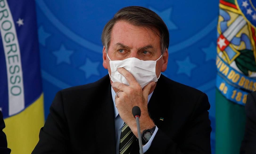 Presidente Jair Bolsonaro fez apelo a empresários Foto: SERGIO LIMA / AFP