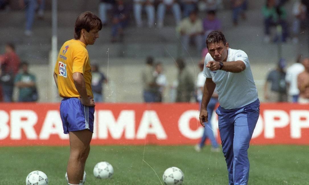 Sebastião Lazaroni foi responsável por lançar o jogador no Grêmio Foto: Custódio Coimbra / Custódio Coimbra