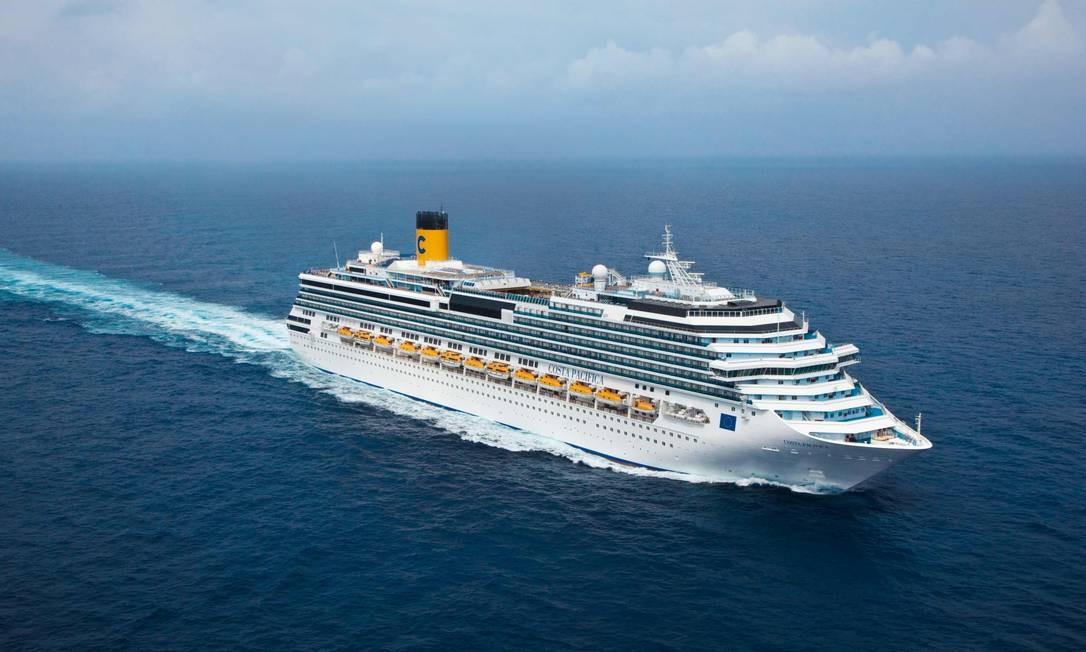 O cruzeiro Costa Pacifica Foto: Reprodução