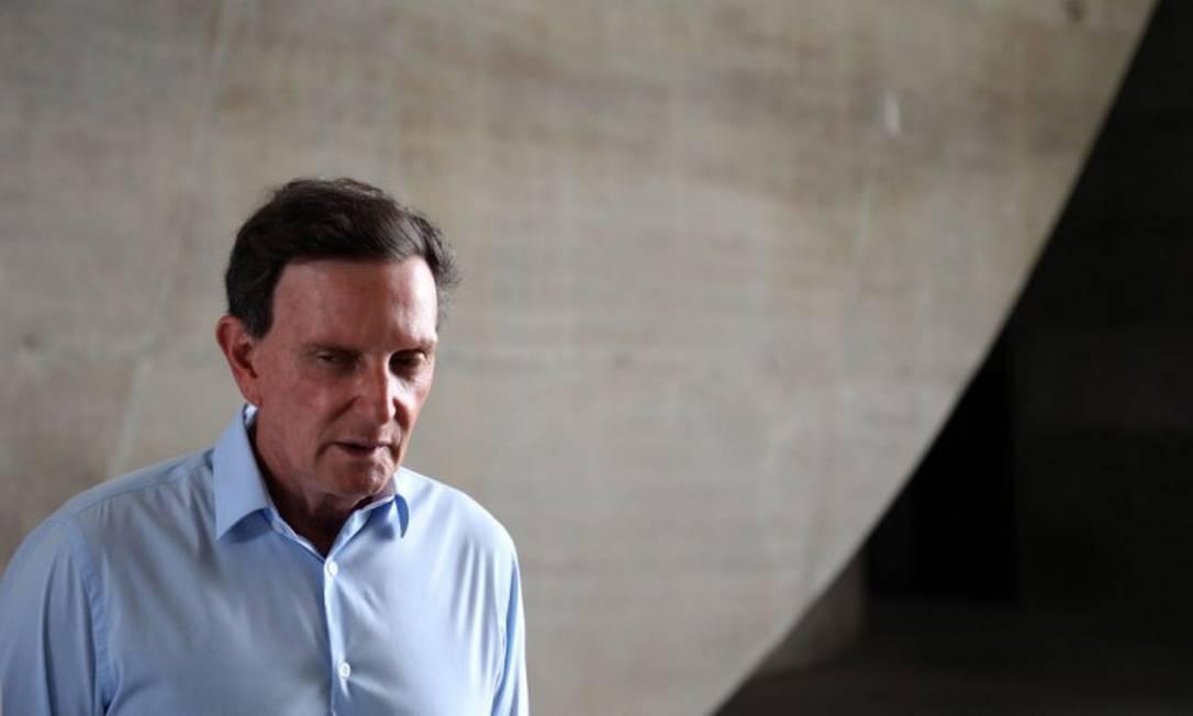 O prefeito Marcelo Crivella pedirá ajuda do exército para combater o coronavírus Foto: FABIO MOTTA / Agência O Globo