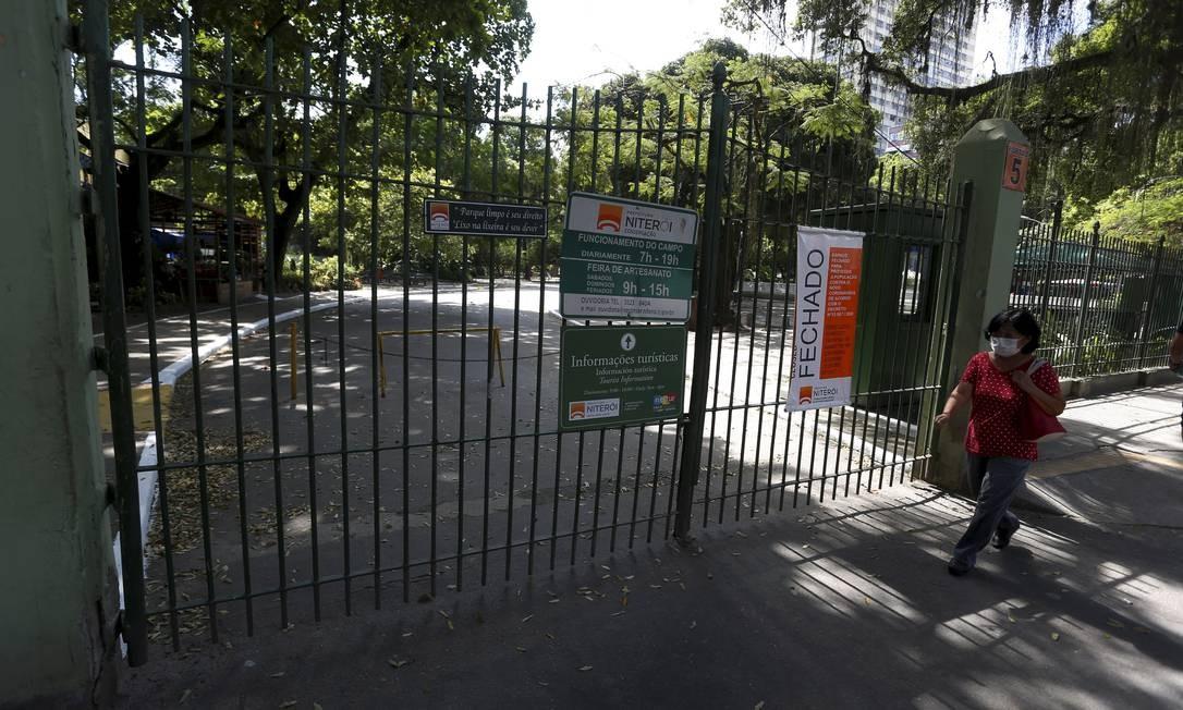 O Campo de São Bento foi um dos primeiros espaços públicos interditados Foto: FABIANO ROCHA / Agência O Globo