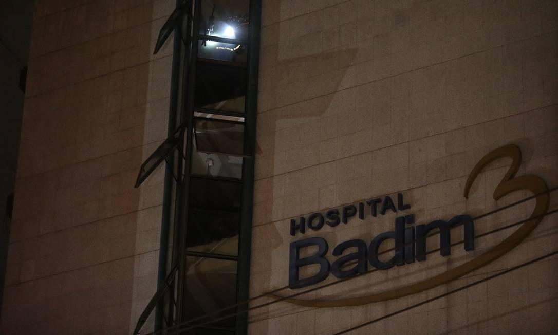 Fachada do Hospital Badim, na Tijuca Foto: Fábio Motta / Agência O Globo