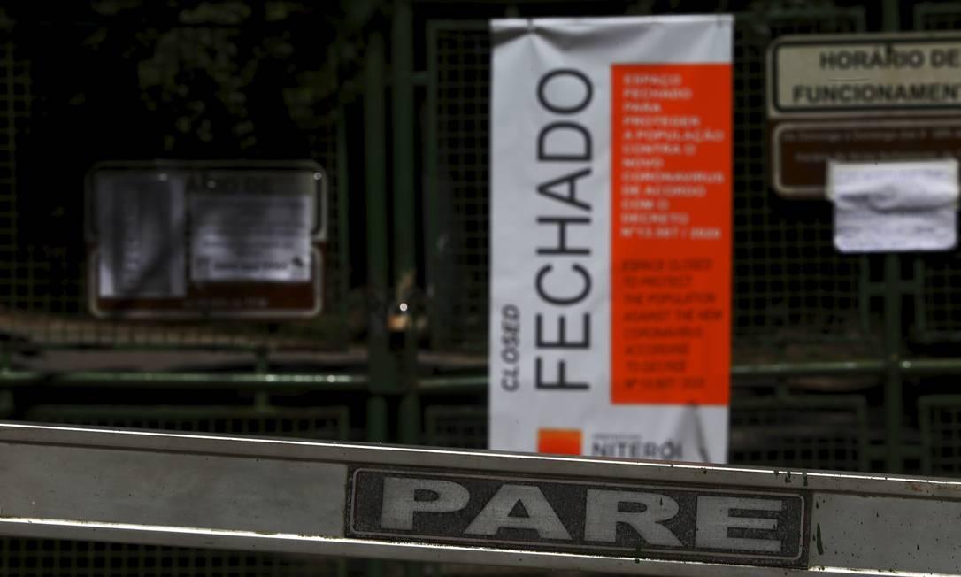 Parque da Cidade, local de decolagem para voo livre, também foi interditado Foto: Fabiano Rocha / Agência O Globo