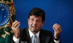 O ministro da Saúde, Luiz Henrique Mandetta Foto: Pablo Jacob / Agência O Globo