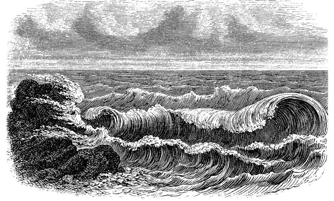 """Ilustração do livro para o conto """"A guarida de pedra"""" Foto: Reprodução"""