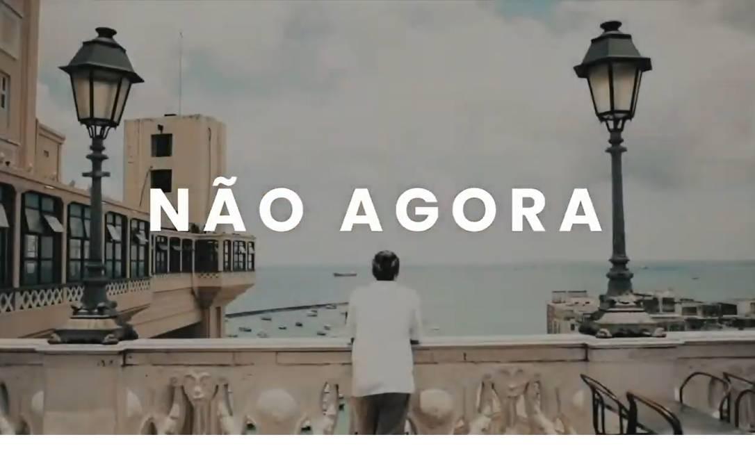 Frame do vídeo promocional do turismo de Salvador, pedindo para que viajantes deixem para visitar a cidade após a pandemia do coronavírus Foto: Reprodução / Youtube