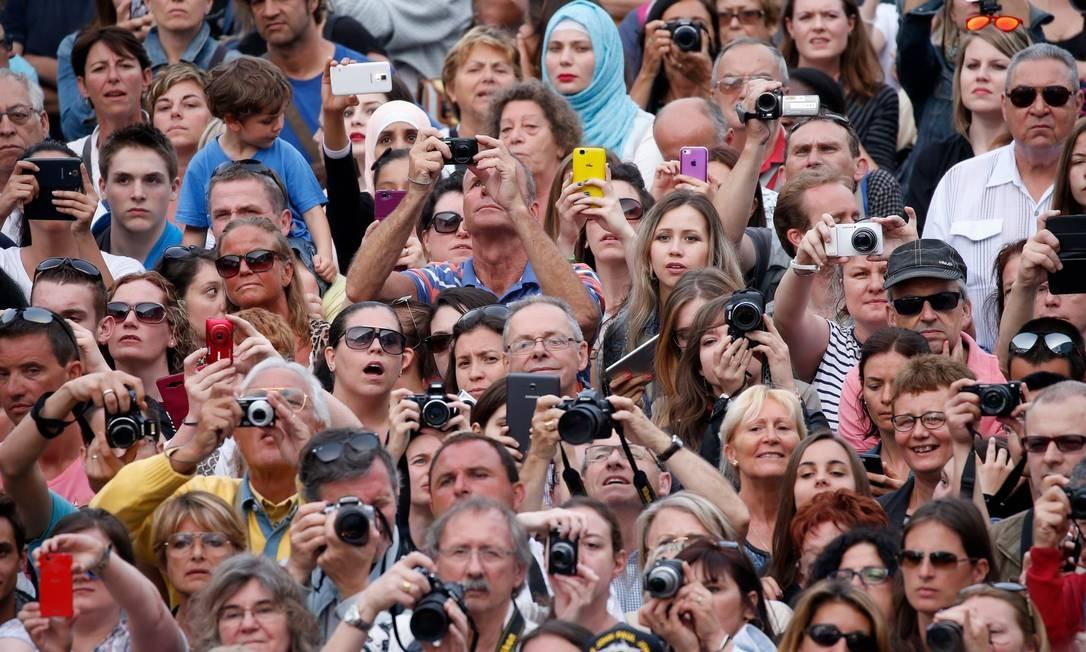 Multidão na estréia de Mad Max: Fury Road em 2015, em Cannes Foto: Tristan Fewings/Getty Images
