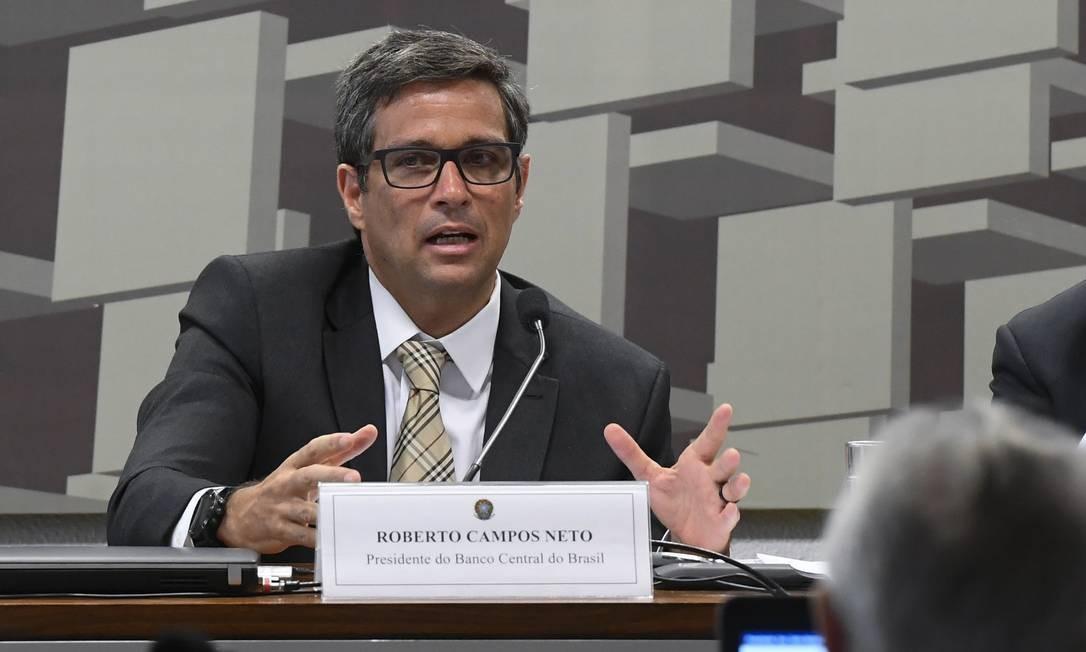 Campos Neto disse que o sistema bancário brasileiro é um dos mais sólidos do mundo Foto: Marcos Oliveira / Marcos Oliveira/Agência Senado