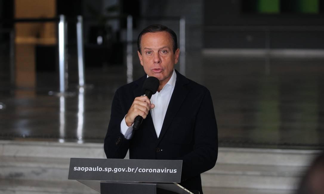 O governador de São Paulo, João Doria (PSDB) Foto: BW Press / Agência O Globo