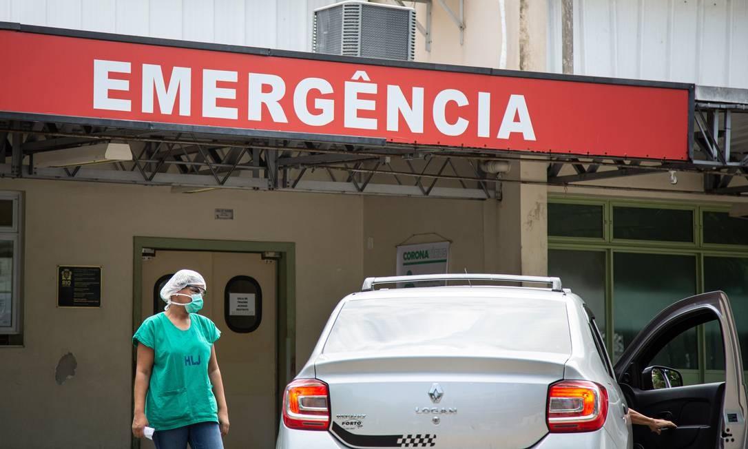 Hospital Lourenço Jorge, na Barra da Tijuca, recebeu casos suspeitos de coronavírus Foto: Hermes de Paula / O Globo - 18.03.2020