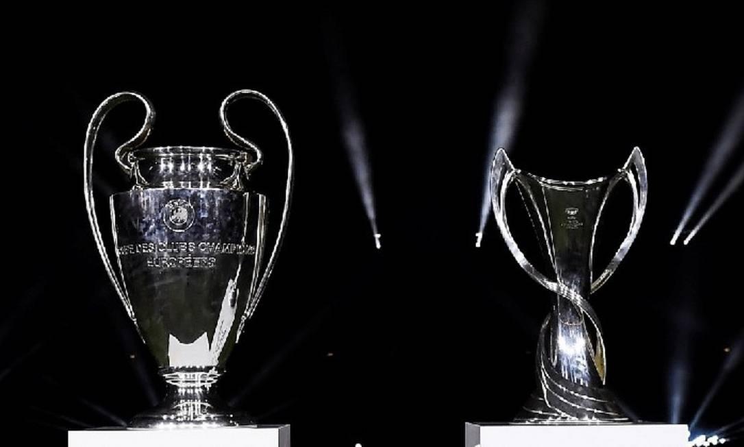 Troféus da Liga dos Campeões da UEFA Foto: Divulgação/Uefa