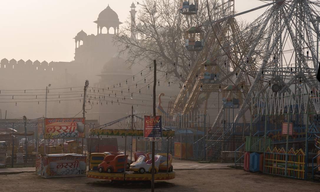 Um dia na feira no Forte Vermelho, em Nova Deli Foto: SAUMYA KHANDELWAL / NYT