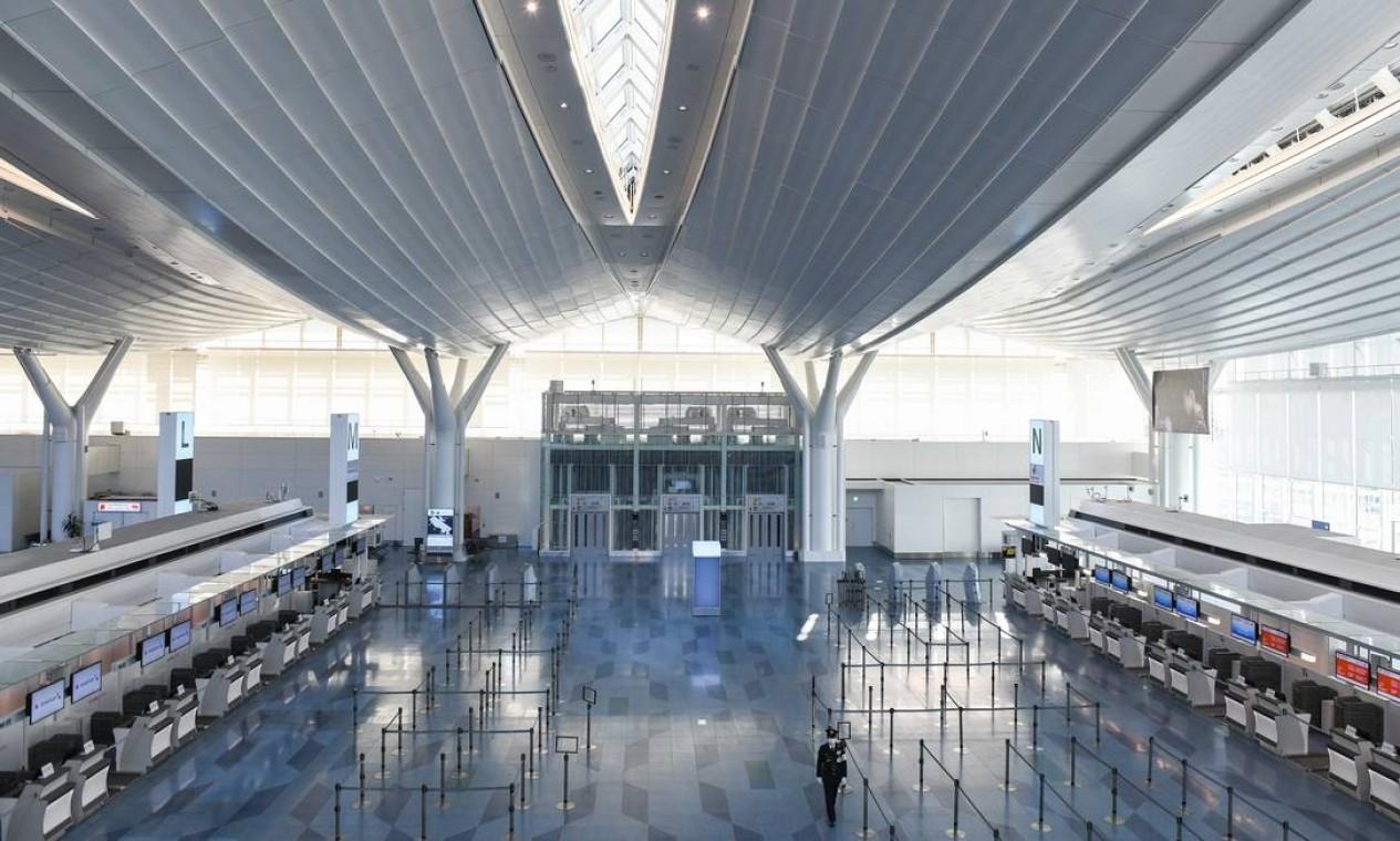 O terminal internacional do aeroporto de Haneda, em Tóquio, no Japão Foto: Noriko Hayashi / NYT