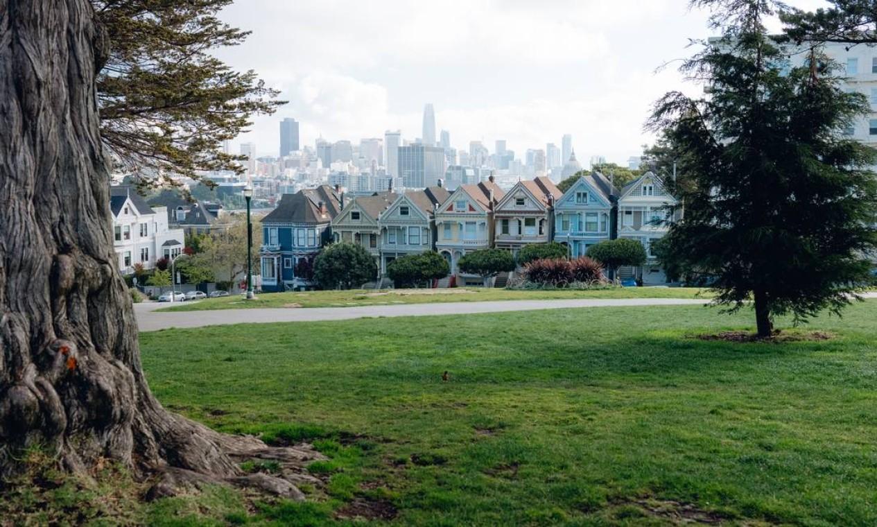 Residentes de San Francisco, Califórnia, foram ordenados a ficar em casa Foto: Rozette Rago for The New York Times / NYT