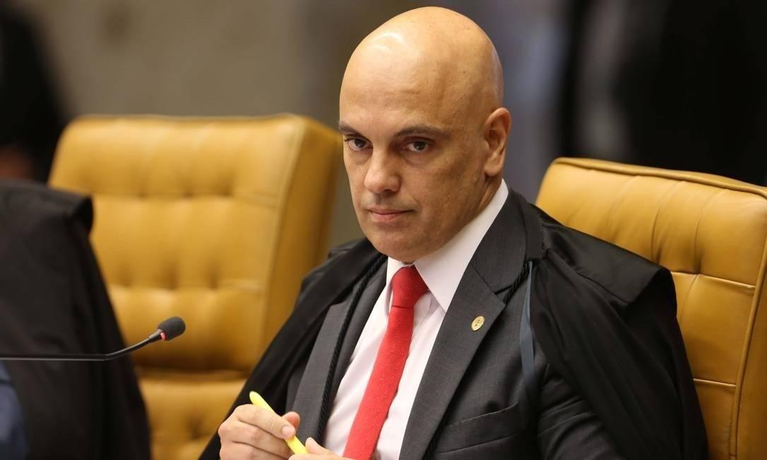 O ministro Alexandre de Moraes, durante sessão do Supremo Tribunal Federal Foto: Givaldo Barbosa / Agência O Globo
