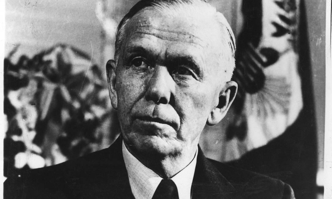 George Marshall, seccretário de Estado americano responsável pelo plano de reconstrução da Europa Foto: Arquivo