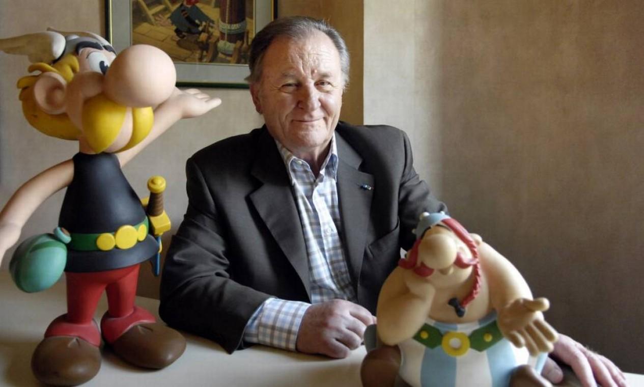 Criador e criaturas: Uderzo faleceu aos 92 anos Foto: STEPHANE DE SAKUTIN / AFP