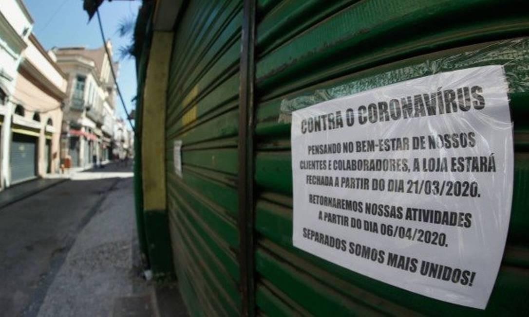 A procura por negociação é maior entre locatários de imóveis comerciais Foto: Roberto Moreira Foto: Roberto Moreira/Agência O Globo