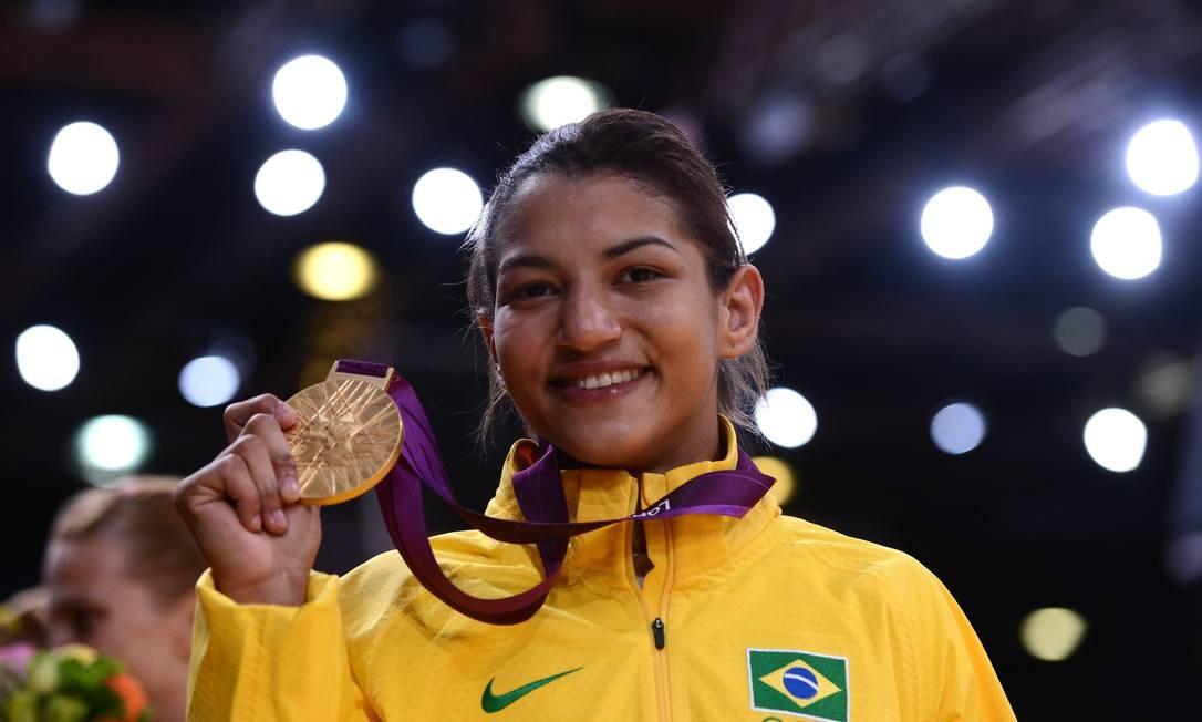 Sarah Menezes foi ouro em Londres-2012 Foto: FRANCK FIFE