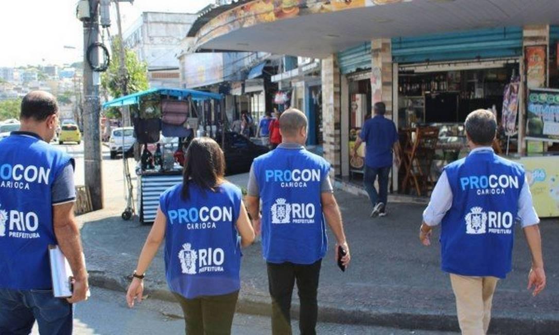 Fiscais do Procon Carioca notificaram 17 empresas Foto: Divulgação
