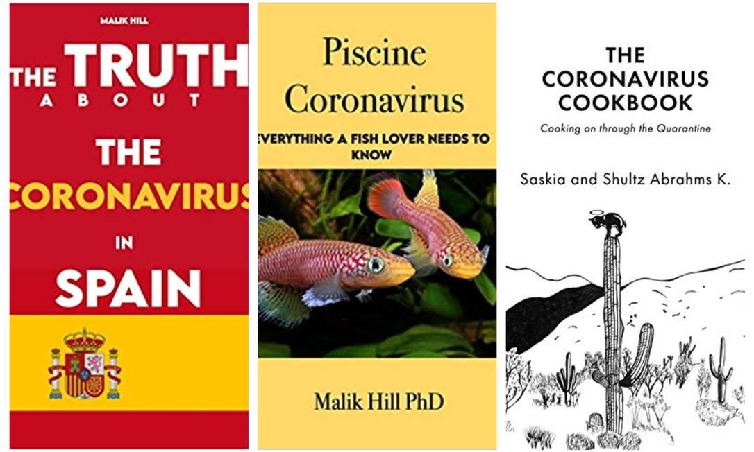 Obras vendidas online prometem revelar desde a 'verdade' sobre o coronavírus até dicas culinárias para a quarentena Foto: Reprodução